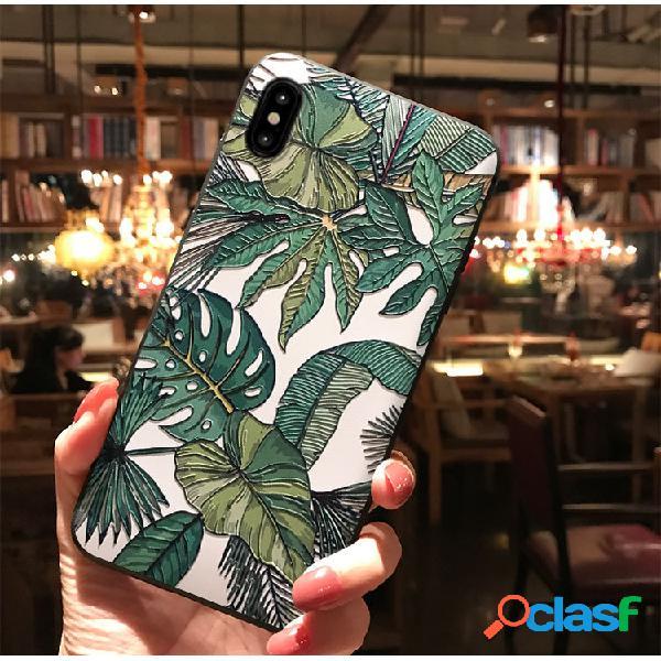 Doppio fiore giungla per iphonexs max custodia protettiva in rilievo x23 silicone soft shell r17 custodia per telefono