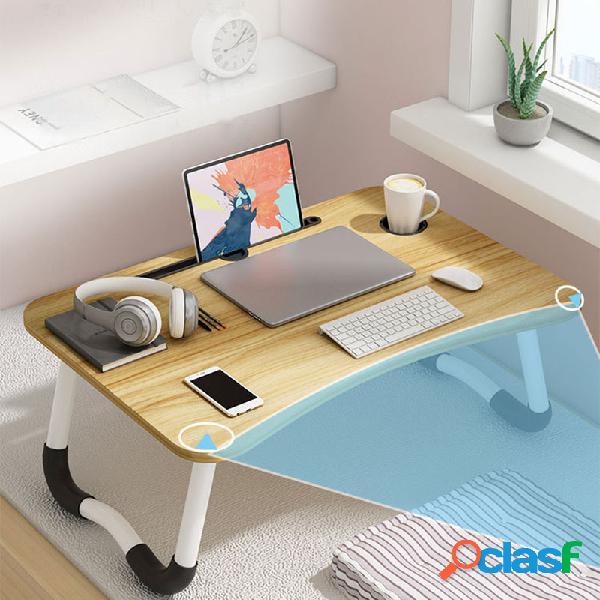 Scrivania da ufficio regolabile in piedi letto tavolino tavolo pieghevole scrivania semplice pigro camera da letto tavolo per laptop tavolo da scrivania