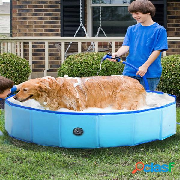 Rifornimenti di pulizia del gatto e del cane della vasca per bambini pieghevole all'aperto della vasca da bagno del cane della piscina per animali domestici del pvc