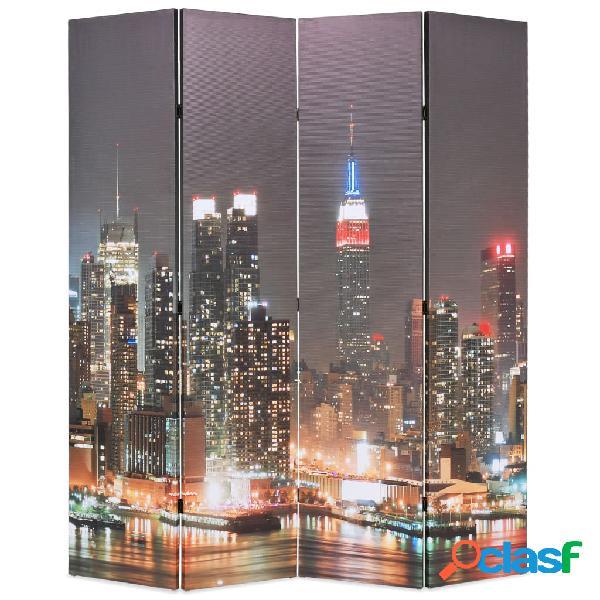 Vidaxl paravento pieghevole 160x170 cm stampa new york di notte
