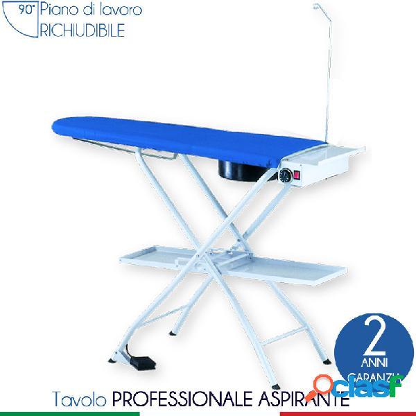Tavolo da stiro universale riscaldato ed aspirante bf006 128,5x42xh85-90 max cm - peso 17,5 kg con attacco per braccetto stiramaniche aspirante
