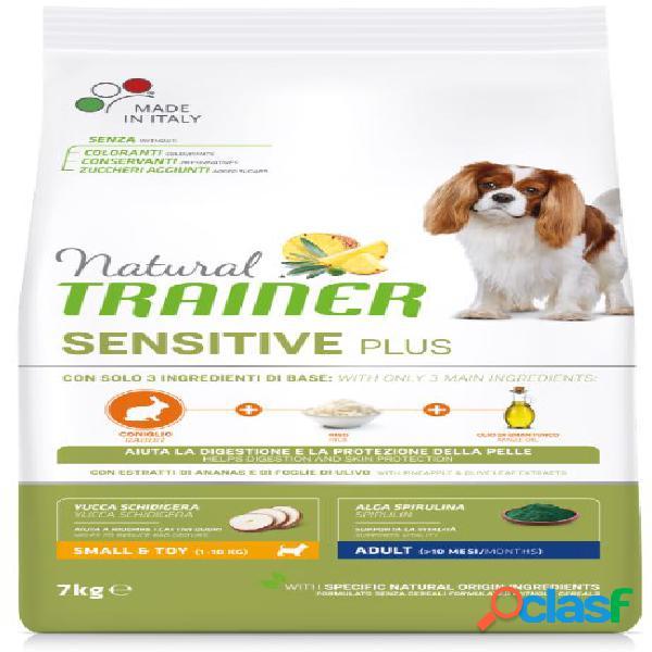 Trainer natural sensitive plus adult small toy / mini kg 7 coniglio