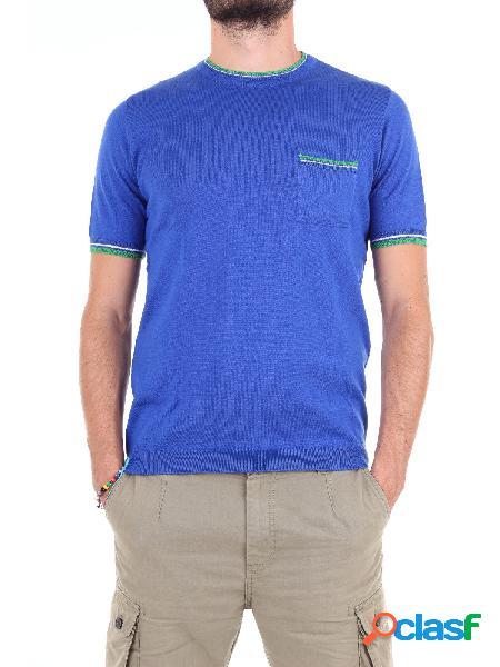 Michael kurrier t-shirt manica corta uomo blu elettrico