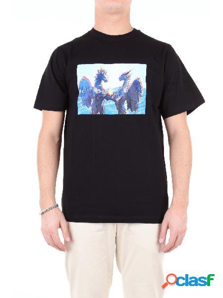 P.a.m. t-shirt manica corta uomo nero fantasia