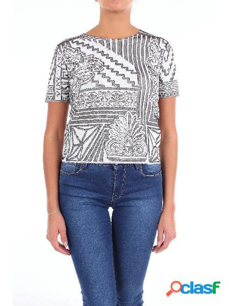 Viki and t-shirt manica corta donna bianco e nero
