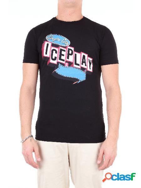 Ice t-shirt manica corta uomo nero
