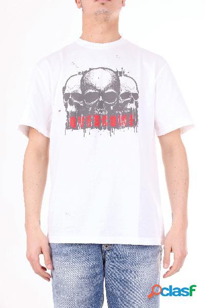 Overcome t-shirt manica corta uomo bianco