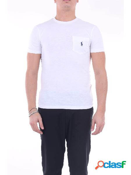 Polo ralph lauren t-shirt manica corta uomo bianco