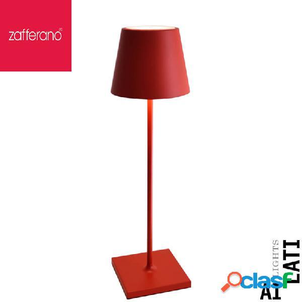 Zafferano poldina rosso ferrari cm 38 lampada da tavolo ricaricabile
