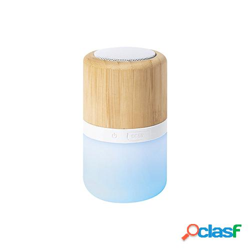 Bamboo touch - speaker bluetooth con lampada a led pf224