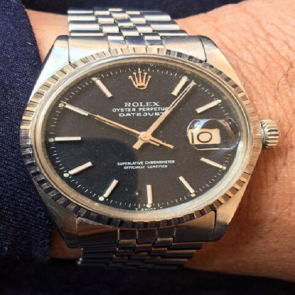 Rolex datejust 1603 tropicale nero