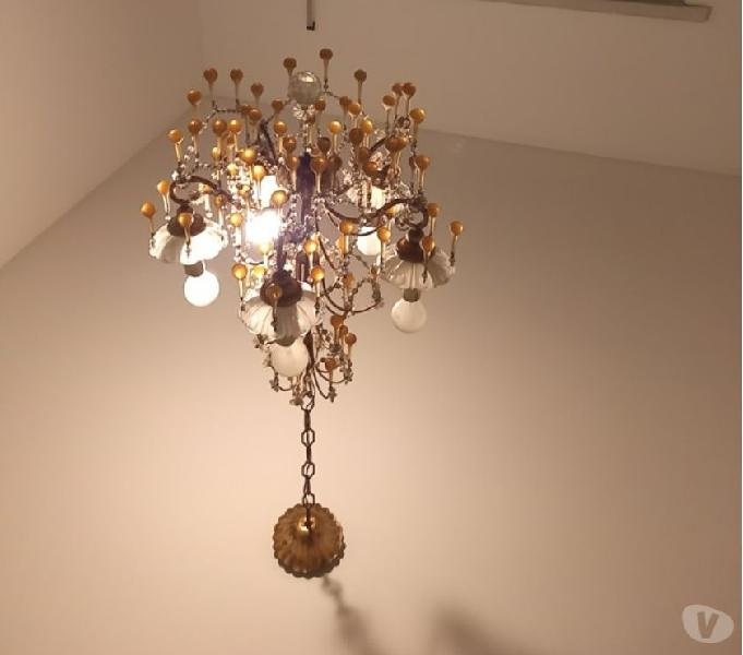 Lampadario 5 luci gocce vetro gialle roma - casalinghi - articoli per casa e giardino
