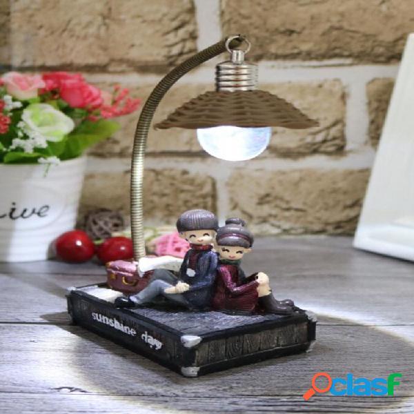 Coppia night light novità creativo piccolo regalo resina ornamento decorazione artigianale luce a led