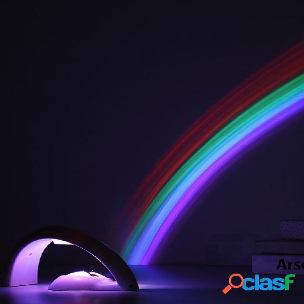 Proiettore rainbow night light lampada da comodino multicolor light reflection bedroom home decor