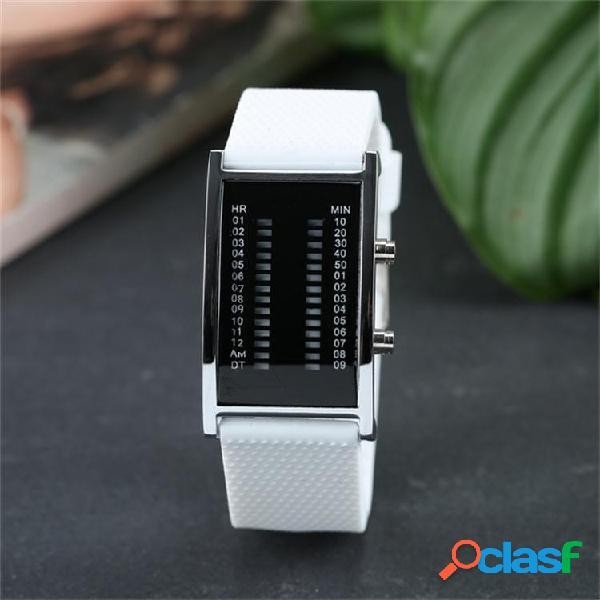 Orologio da donna alla moda double row lights digital watch night light led watch