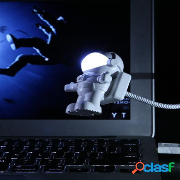 Astronaut led night light astronaut luce notturna usb creativo usb book light scrivania per computer lampada