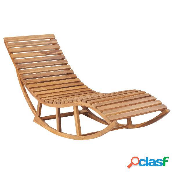 Vidaxl lettino a dondolo in legno massello di teak