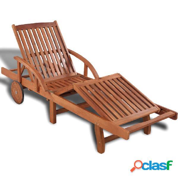 Vidaxl lettino prendisole in legno massello di acacia