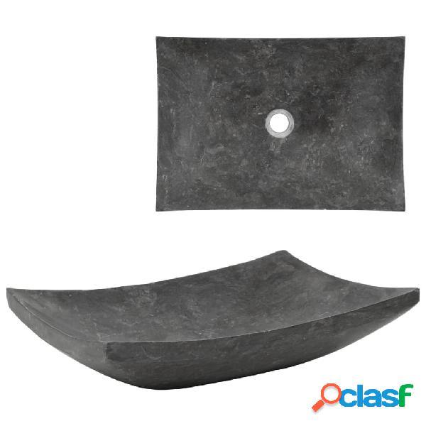 Vidaxl lavandino 50x35x12 cm in marmo nero