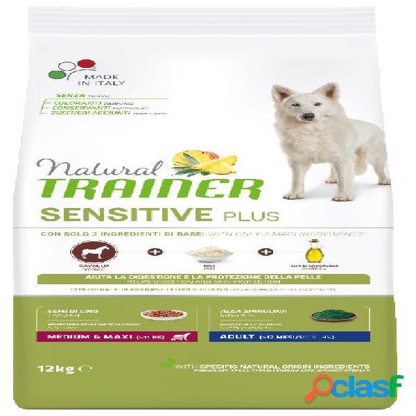 Trainer natural sensitive plus adult medio maxi kg 12 cavallo