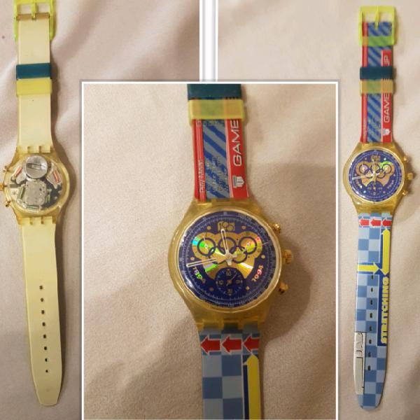 Orologi swatch crono olimpiadi raro new anni 90 funzionanti