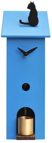 Orologio da parete 13x37x11cm pirondini italia solitario blu