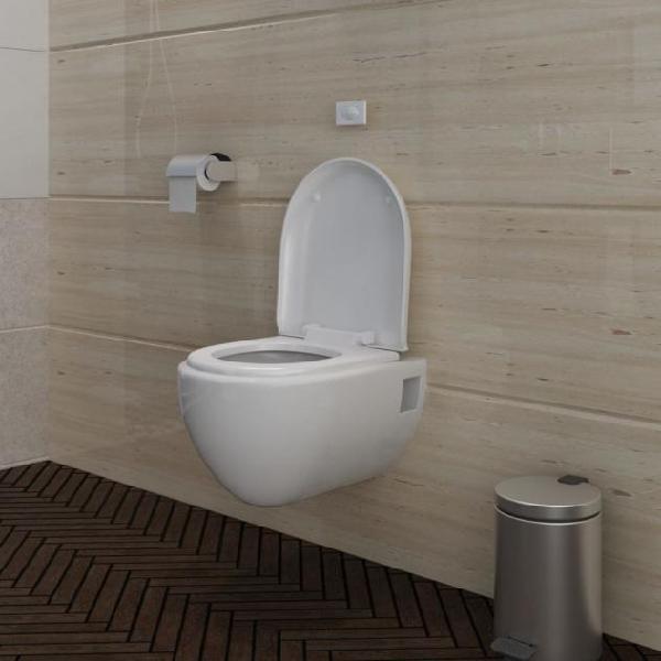 Vidaxl wc water da parete design unico bianco