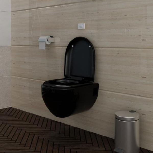 Vidaxl wc water da parete design unico nero