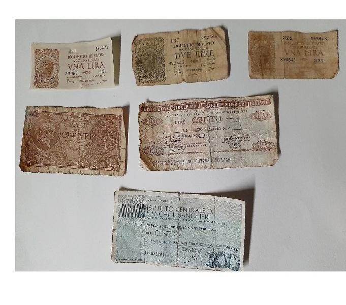 Banconote italiane e monete straniere catania - collezionismo in vendita