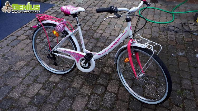 City bike bambina 6/10 anni telaio in alluminio cambio