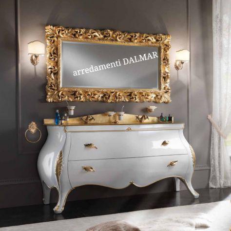 Mobile bagno stile barocco in legno. massello