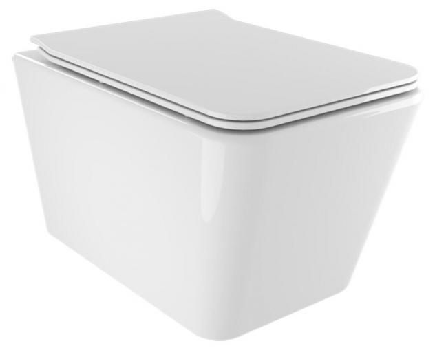 Wc sospeso in ceramica 36x52x35 cm street bonussi bianco