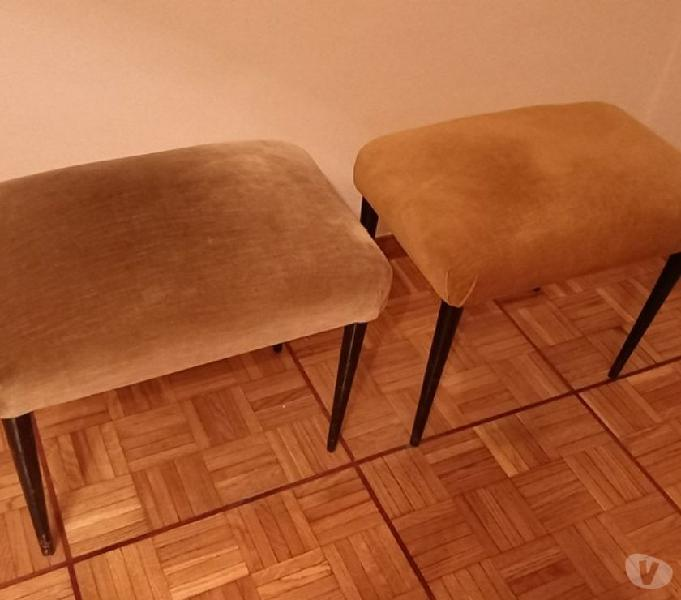Panchetto legno velluto antico in vendita roma - vendita mobili usati