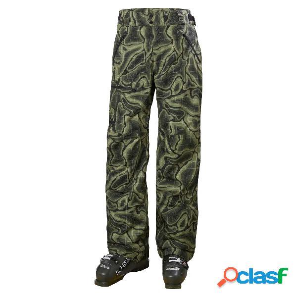 Pantalone sci helly hansen sogn cargo (colore: beluga nmm map print, taglia: m)
