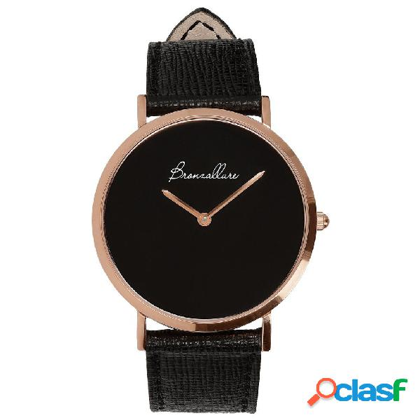 Orologio donna con onice | rose gold / 2.4 cm