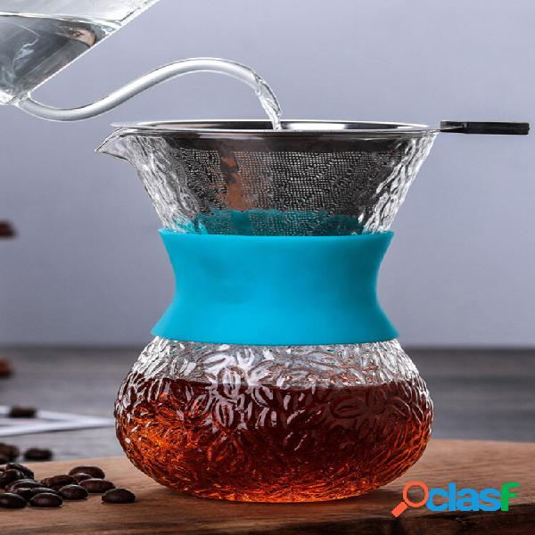 Macchina per caffè espresso in vetro resistente alle alte temperature