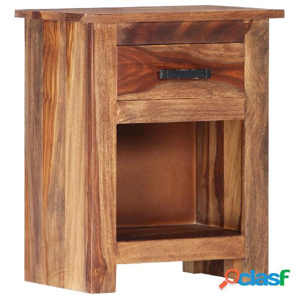 Vidaxl comodino 40x30x50 cm in legno massello di sheesham