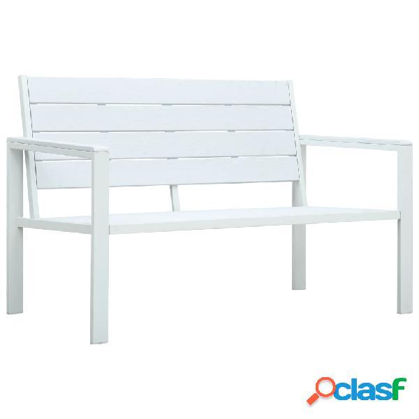 Vidaxl panchina da giardino 120 cm in hdpe bianca aspetto legno