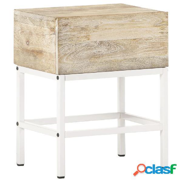 Vidaxl comodino 40x30x50 cm in legno massello di mango