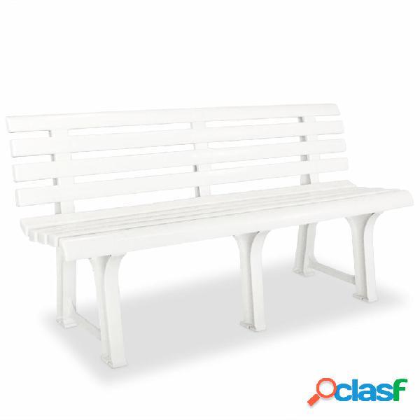 Vidaxl panchina da giardino 145,5 cm in plastica bianca