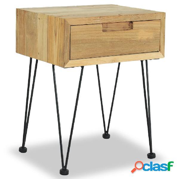 Vidaxl comodino 40x30x50 cm in legno massello di teak