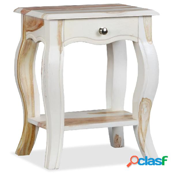 Vidaxl comodino in legno massello di sheesham 40x30x50 cm