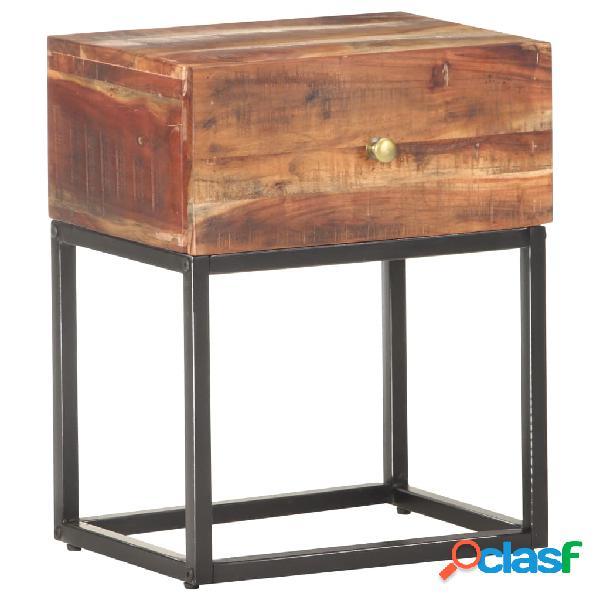 Vidaxl comodino 40x30x50 cm in legno di acacia grezzo
