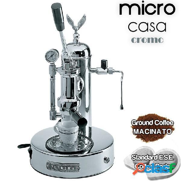 Macchina da caffè a leva cromo