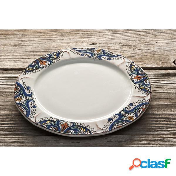 Piatto frutta in ceramica da ø22 cm decoro deruta