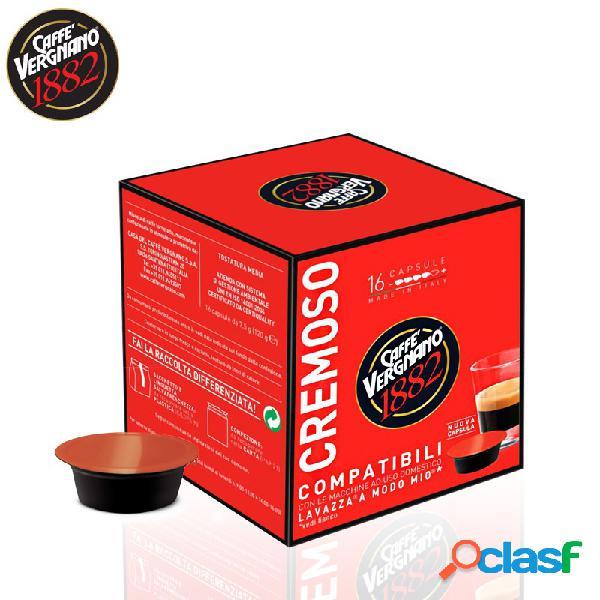Caffè vergnano cremoso 16 capsule compatibile lavazza a modo mio