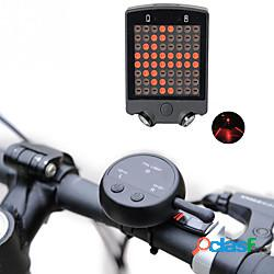 Laser led luci bici luce indicatore di direzione luce posteriore per bici luci di sicurezza led ciclismo da montagna bicicletta ciclismo impermeabile modalità multiple super luminoso telecoma