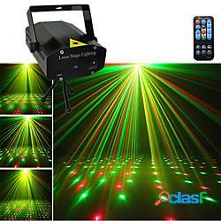 Mini proiettore stroboscopico a colori star sky luce laser musica per la casa par xmas party discoteca stage flash lighting luci stroboscopiche lightinthebox