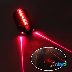 Laser luci bici luce posteriore per bici luci di sicurezza ciclismo da montagna bicicletta ciclismo impermeabile regolabili fantastico rilascio rapido 50 lm 2 batterie aaa rosso ciclismo / ip