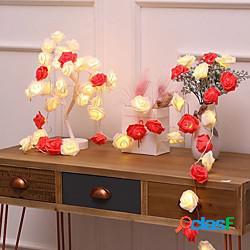 3m 20leds 6m 40leds rose fata luci usb o batteria led luce della stringa illuminazione natalizia ghirlanda di natale capodanno decorazione della festa nuziale lampada miniinthebox